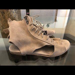 All Saints Nude Suede Gladiator Sandals 40